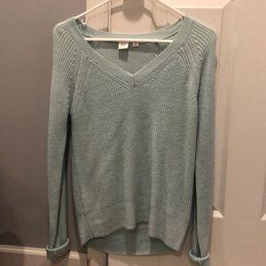 teal sweater
